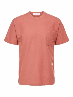 SLHRELAXALBION SS O-NECK TEE G logo